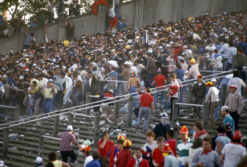 Le mouvement de foule du Heysel a été causé par les hooligans anglais