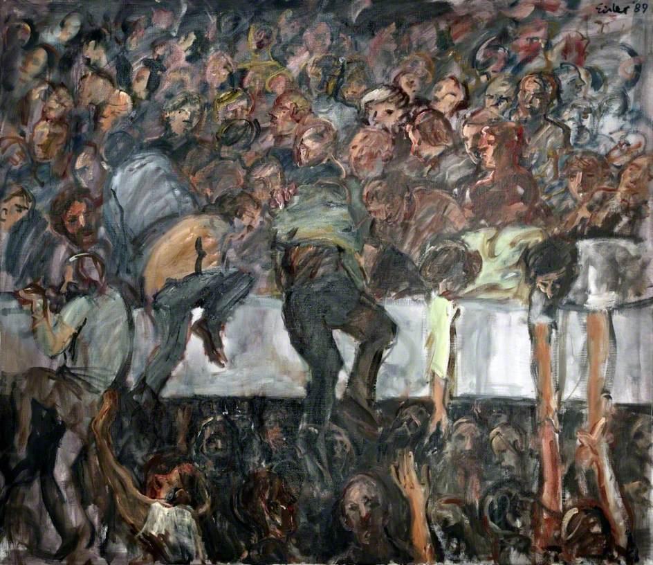 Peinture en mémoire du mouvement de foule de Hillsborough