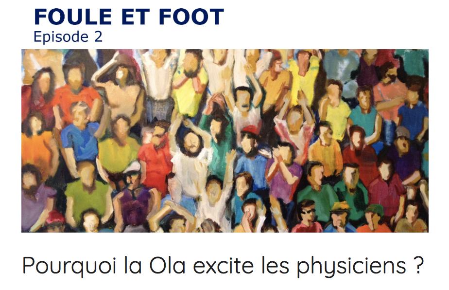La Ola dans les tribunes de football, un mouvement de foule comme une onde